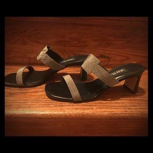 Shoes - Dressy metallic heels